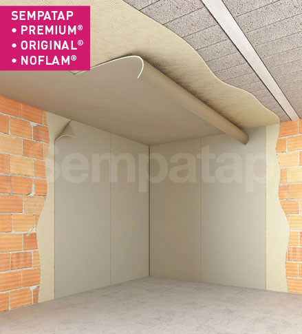 SempaTap Premium, Original und Noflam sind vielseitige Lösungen zur Wärmedämmung und Schallabsorption, wirksam gegen Feuchtigkeit und Risse.
