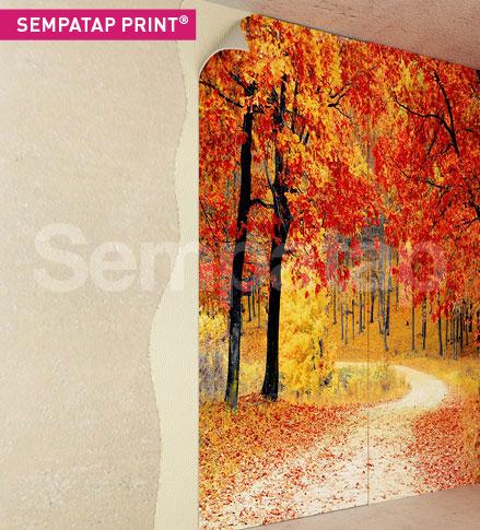 SempaTap Print ist ein Wärmedämmstoff und ein Schalldämpfstoff, der den Vorteil hat, vollständig anpassbar zu sein durch Digitaldruck.