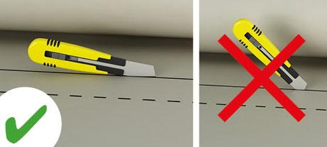 Die Produkte der Schall- und Wärmedämmung und Schallabsorption sind einfach mit dem Cutter zu schneiden.