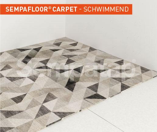 SempaFloor Carpet, Schalldämmung unter Teppichboden