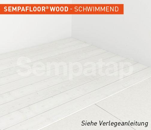 SempaFloor Wood, Schalldämmung unter schwimmend verlegtem Parkett