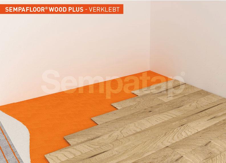 SempaFloor Wood Plus, Schalldämmung unter geklebtem Parkett