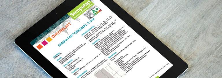 Laden Sie die Datenblätter Sempatap-Produkte herunter: SempaTap, SempaFloor und SempaPhon